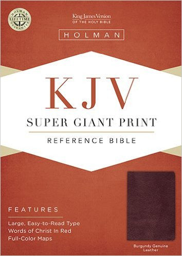 KJV SUPER GIANT PRINT BIBLE BURGUNDY BOND LTHR