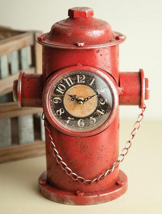 FIRE HYDRANT TABLETOP CLOCK