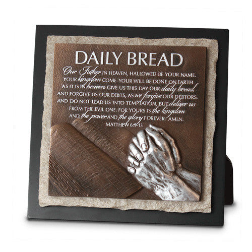 Daily Bread-Praying Hands Sculpture Plaque