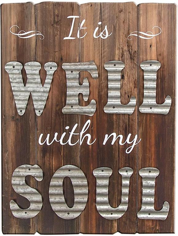 All Is Well Wood/Metal Wall Art