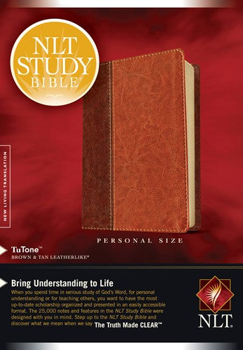 NLT Study Bible Personal Size Brown/Tan TuTone