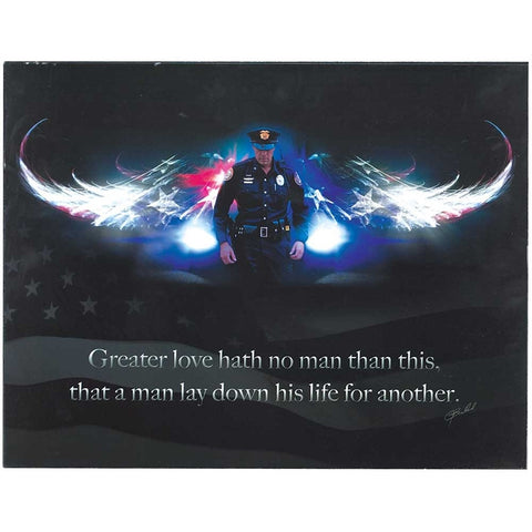 Policeman Greater Love Angel Wings