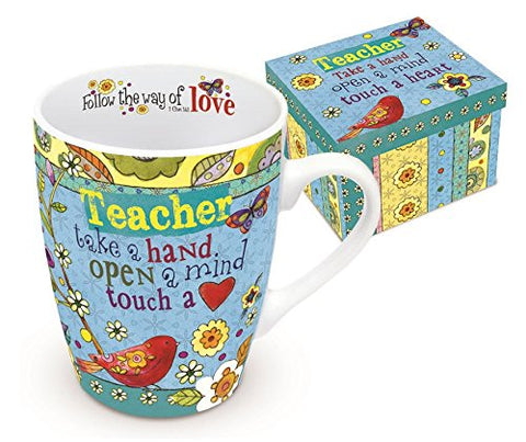TEACHER BOXED MUG HEART N HUGS