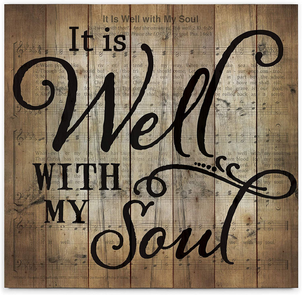It Is Well With My Soul Wood Pallet Wall Art