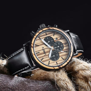 78IGHT All Natural Men's Wood Watch Retro Style Luxury Mens Watch