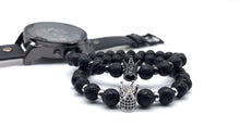 Load image into Gallery viewer, 78IGHT 2018 Crown Stone Bracelet for Men Beaded Bracelet
