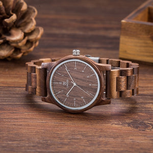 78IGHT Handmade Walnut Wood Watch For Men Luxury Mens Watch