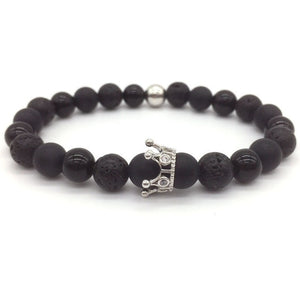 78IGHT 2018 Crown Stone Bracelet for Men Beaded Bracelet