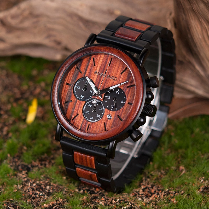 78IGHT CEO Wood Watch For Men Luxury Mens Watch