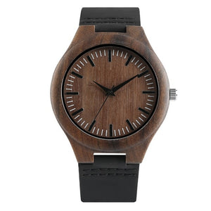 78IGHT All Natural Ebony Wood Watch For Men Luxury Mens Watch