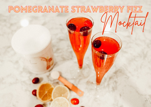 Pomegranate Strawberry Fizz Mocktail