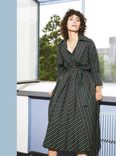 Striped Long Trench/ Dress