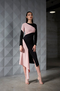 Folded Cut Cocktail Dress