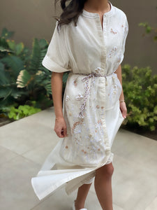 5X - Flowers Shirt Dress