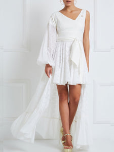 Valta White High-Low Dress