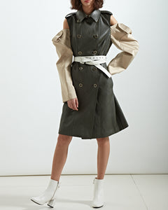 Belted Architect Trench Dress