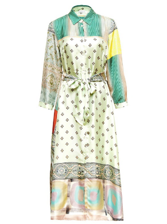 PLM- Aloe Silk Dress