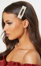 Load image into Gallery viewer, Pearl & Rhinestone Hair Clips