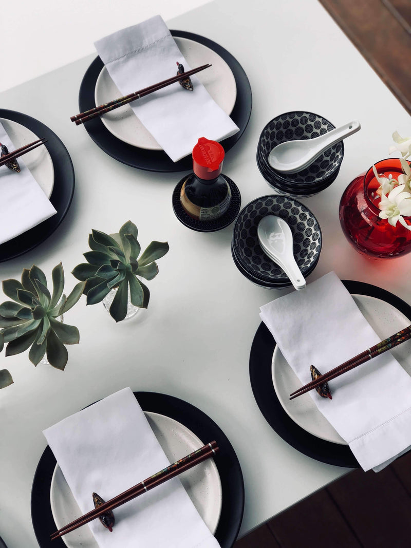 TABLE SETTING - Casual Japanese - Dinner for 6
