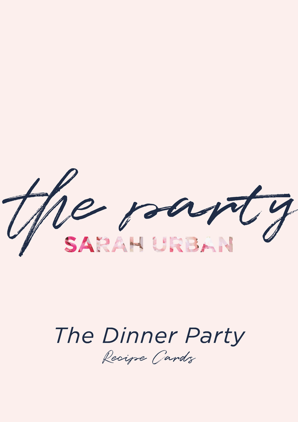 RECIPE CARD SET - THE DINNER PARTY