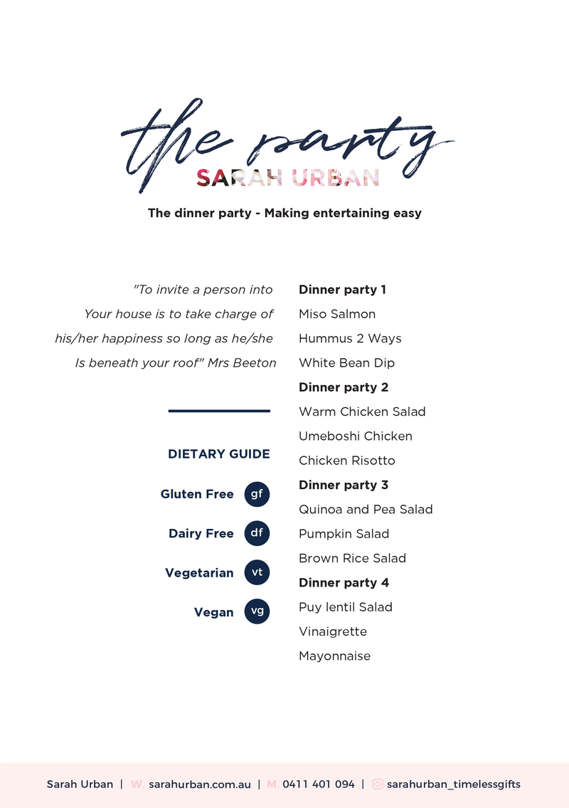 How to host the perfect Dinner Party - Wednesday January 15, 2020 6pm