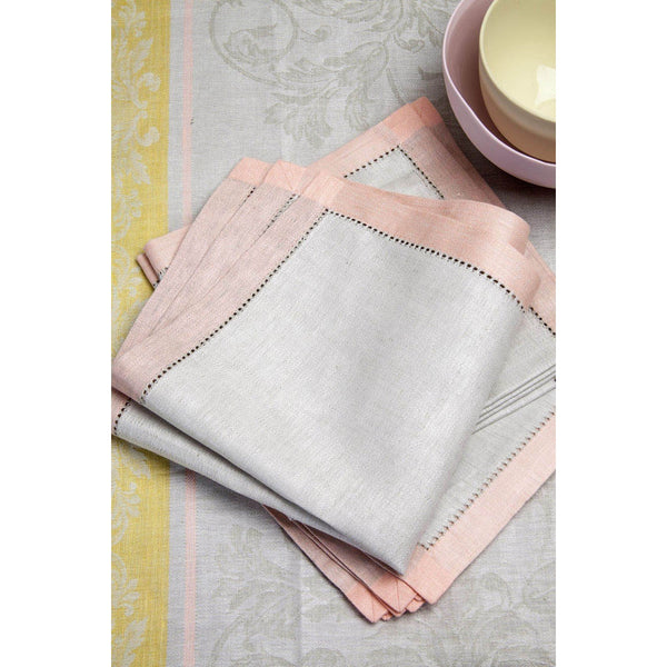 Peach / Lime Linen napkins