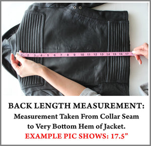 Example Picture of How to Take a Jacket Back Measurement