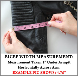 Example Picture of How to Take a Jacket Bicep Measurement