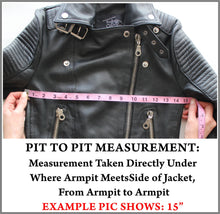 Example Picture of How to Take a Jacket Pit to Pit Measurement