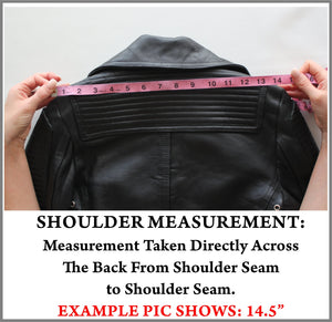 Example Picture of How to Take a Jacket Shoulder Measurement