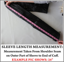 Example Picture of How to Take a Jacket Sleeve Measurement