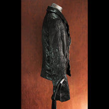Black Rebel Rider .8mm Vegetable Tanned Washed and Waxed Calfskin Scar Stitched Leather Jacket