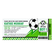 Soccer Ticket Pass baby shower ticket invitation