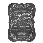 Lavish Scrolls Editable Color Wedding Invitations