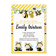 Cute Baby Bumble Bee Honey Bee baby shower invitation