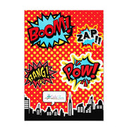 Superhero Couples baby shower invitation