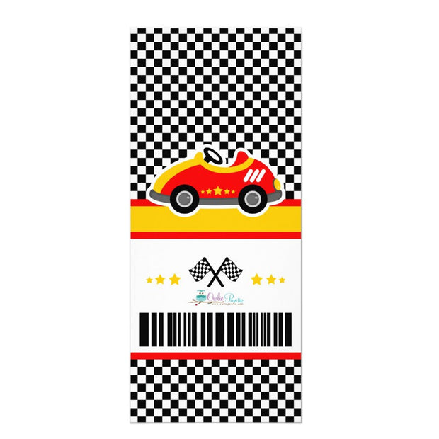 Race Car Ticket Pass baby shower ticket invitation