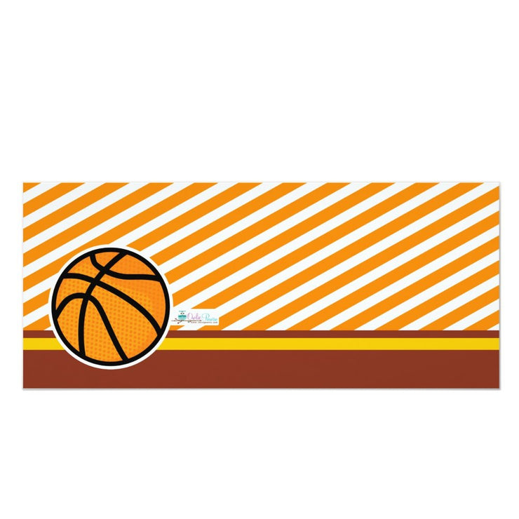 Basketball Ticket Pass baby shower ticket invitation