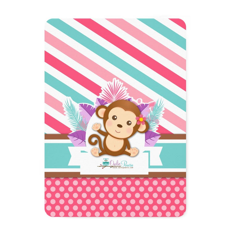 Pink Jungle Monkey Safari Couple baby shower invitation