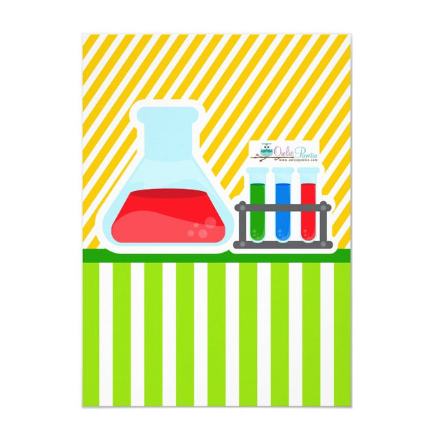 Mad Science baby shower invitation