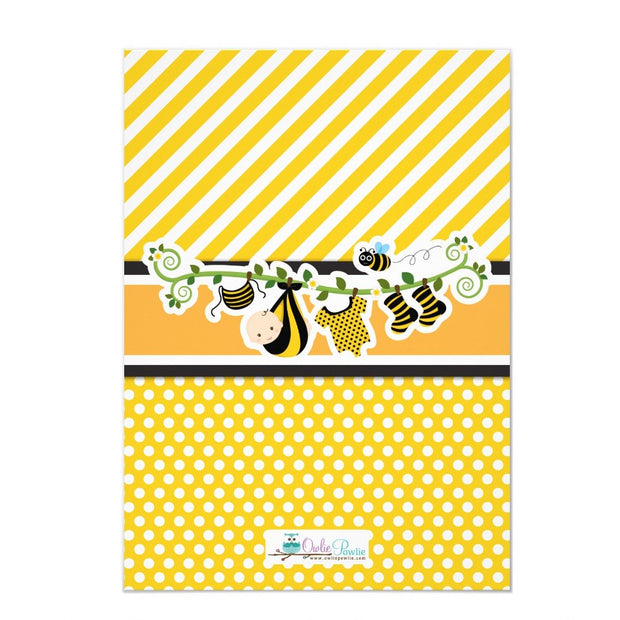 Cute Baby Bumble Bee Honey Bee 1st birthday invitations