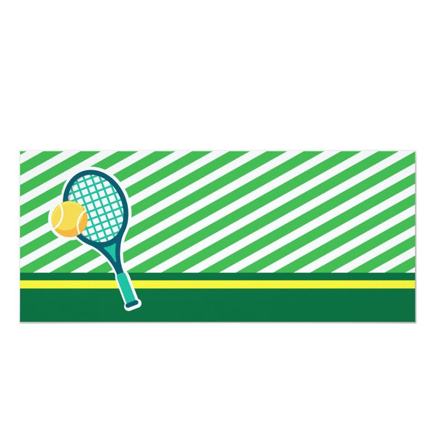 Tennis ticket birthday invitations