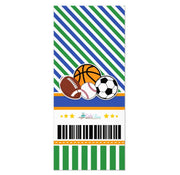 All Star Sport Ticket Pass birthday invitations