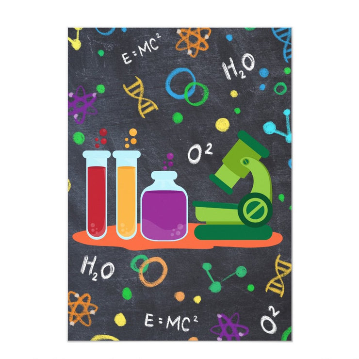 science birthday invitations