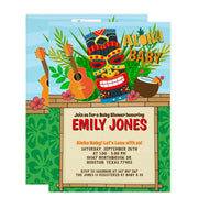 Aloha Luau Hawaiian Tropical Summer baby shower invitation