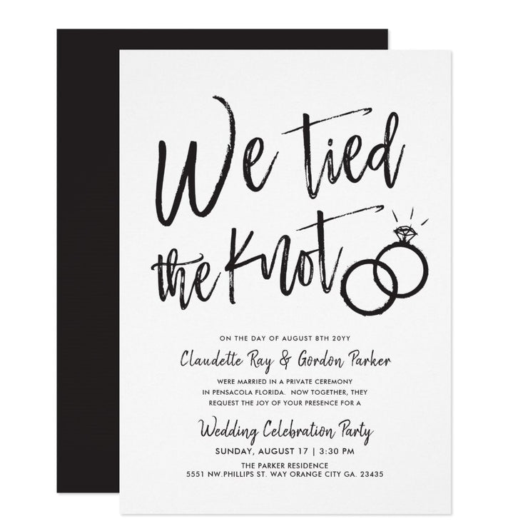 We Tied the Knot | Post wedding invitations