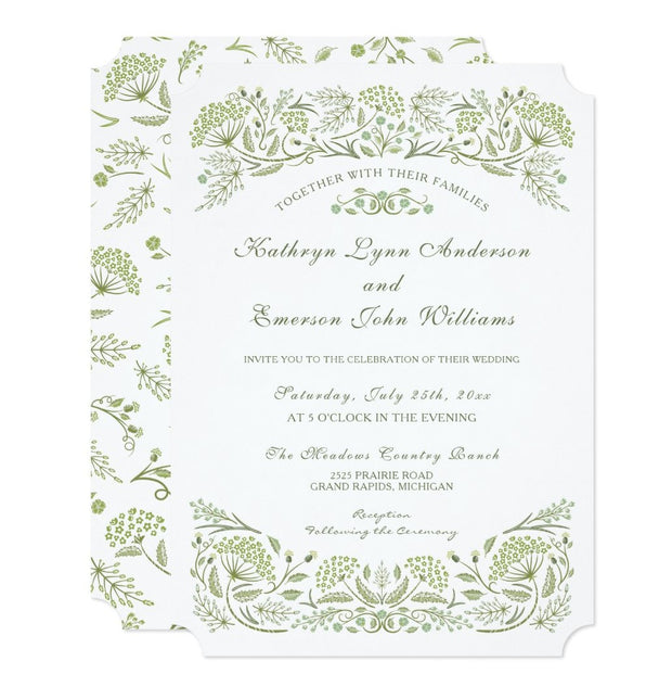On the Prairie Wedding Invitation
