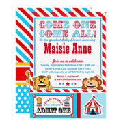 Circus Carnival baby shower invitation