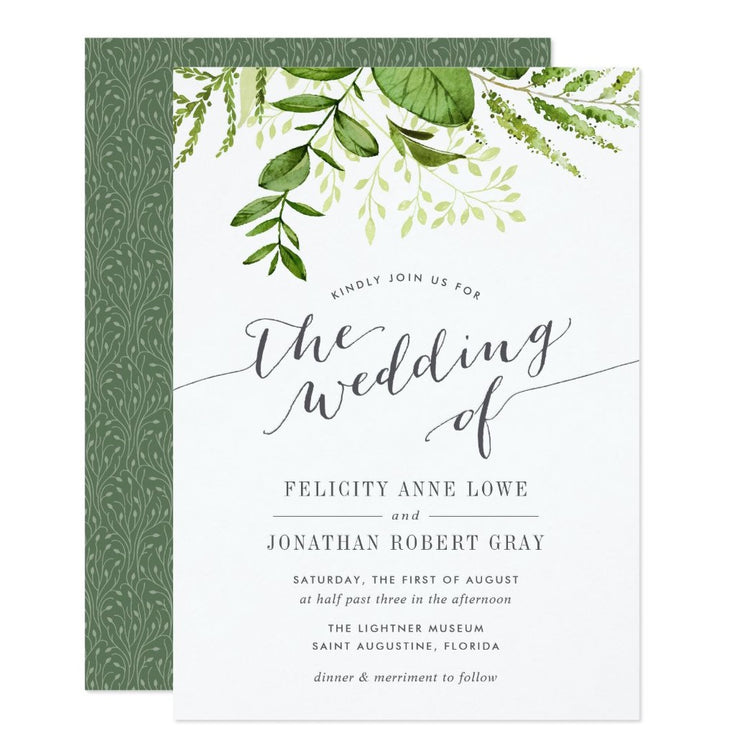 Wild Meadow Botanical wedding invitations
