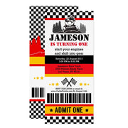 ATV Dirt Quad BikeTicket Pass ticket birthday invitations